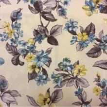 Ткань для штор Kamil B Blue 20 цветочный узор.