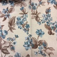 Ткань с цветочным орнаментом производства Испании Kamil B Blue 20 принтовая
