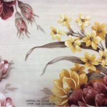 Терракотовая ткань для штор страна производитель Испания Kamil Devore Terracotta 12