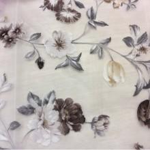 Шторная ткань из органзы Gema Coord Devore 08. Испания цветочный принт