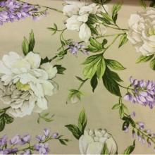 Цветочный принт из льна ихлопка Lilas 2