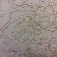 Жаккардовая ткань из хлопка. Арт: Rosetta 1. Турция. Золотистый орнамент на кремовом фоне