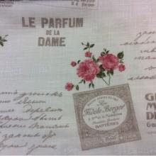 Ткань под хлопок из полиэстера Арт: Prince col 18. Испания, бежевый фон, розовые цветы