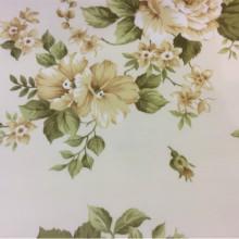 Хлопчатобумажная ткань для штор Rosa L. Испания, На светлом фоне жёлтые цветы