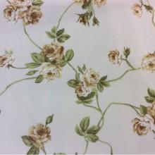 Красивая хлопковая ткань для занавесок Rosa M. Испания. На светлом фоне жёлтые цветы