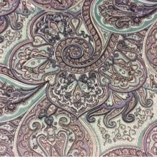 Испанская хлопковая ткань для штор 2439/73. Синий, цвет морской волны
