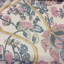 Голубая микровуаль с цветочным рисунком