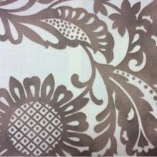 Ткань хб 2436/19. Испания, На светлом фоне коричневые цветы. Хлопок