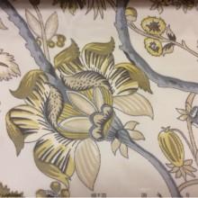 Микровуаль испанская 2441/90 в стиле пейсли. На прозрачном фоне орнамент серого, болотного оттенка