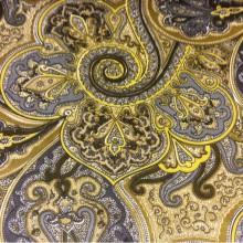 Хлопковая ткань фланель 2439/90. Испания турецкие огурцы