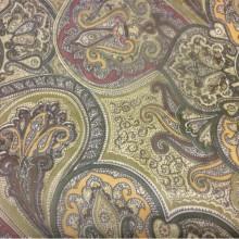 Ткань из полиэстера микровуаль 2440/57. Испания. Зеленовато-терракотовые оттенки