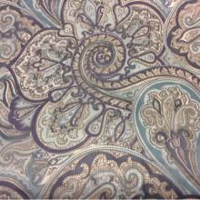 Микровуаль в стиле пейсли 2440/73. Синий, цвет морской волны. Ткань производства Испании