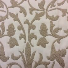 Красивая хлопковая двухсторонняя ткань для штор Caroline, цвет Gold 70. Европа, Испания, портьерная, ткань для покрывала. Бело-бежевый фон с золотинками