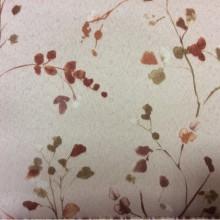 Ткань blackout для штор Elisa 1053. Турция, светонепроницаемая ткань. На бежевом фоне мелкие терракотовые цветы ( акварель)