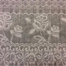 Портьерная ткань для покрывала из хлопка и шерсти Dorset, цвет Gris 06. Европа, Испания, двухсторонняя. Серый фон «русский орнамент».