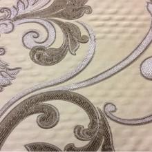 Элитная ткань в стиле барокко Botticelli 06. Европа, Италия, портьерная, вискоза. Серебристо-коричневый фон