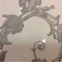 Элитная ткань барокко Botticelli 20. Европа, Италия, тонкий тюль. На прозрачном фоне серебристый принт с блеском