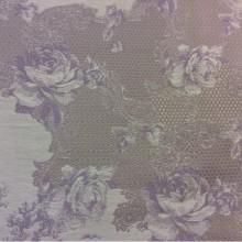 Хлопковый гобелен 2330/43. Серо-сиреневый орнамент. Стиль ткани жуи, прованс. Европа, Испания.