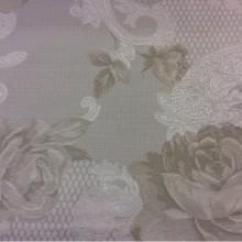 Красивая портьерная ткань для штор 2325/11. Испания, Серый с бледно-оливковым орнамент