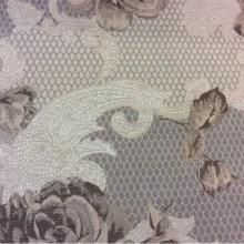 Бежево-коричневая ткань, портьерная с орнаментом 2325/27. Европа, Испания.