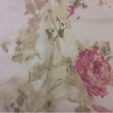Тюль для штор из полиэстера Rose Pink. Турция. Розы, малиновый цвет