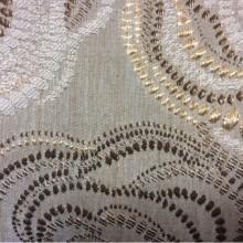 Ткань из вискозы с золотисто-шоколадными розами Gia 4. Турция. Стиль ар-нуво