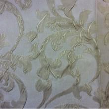 Жатая ткань для штор Sisley 7. Турция, атлас, стиль ткани арт-нуво. На бежевом фоне золотистые завитки