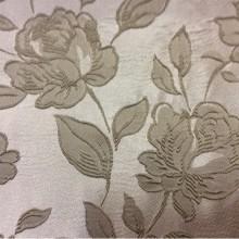 Портьерная ткань с розами из вискозы 5166 V.002. Европа, Англия, атлас, полиэстер, вискоза. На серебристом фоне серые розы