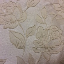 Английская портьерная ткань 5166 V.003. Европа, Англия, вискоза, атлас. На светлом фоне ванильные розы