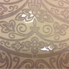 Тюль из вискозы и органзы производства Италии (рисунок купонный) Belvedere 18. Европа, Италия, тонкий тюль. На тёмном фоне серебристый орнамент