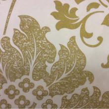 Тюль в стиле барокко из органзы и вискозы Belvedere 25. Европа, Италия, тонкий тюль, классика. На прозрачном фоне бронзовый орнамент (цветы)