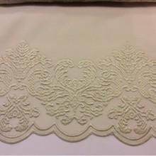 Фланелевая ткань в стиле барокко 2399/11. Италия, Европа, портьерная ткань бежевого цвета