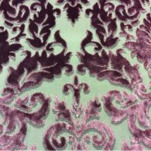Красивая портьерная набивная ткань 2386/36. Италия, Европа, портьерная ткань в стиле барокко, классика). На титановом фоне тёмно-малиновый бархат