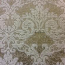Очень красивая ткань из вискозы в классическом стиле 2389/21. Италия, Европа, портьерная. Бронзовый фон, бежевый орнамент