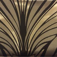Атлас с хлопковым бархатным нанесением Trini, col 3. Турция, портьерная ткань. Золотисто-шоколадный орнамент