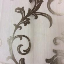 Шикарная тюль для штор, органза с вискозной нитью Eflani, col 18. Турция, тонкий тюль для штор. На прозрачном фоне ванильно-шоколадный принт с переходом тона