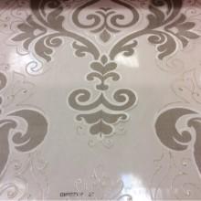 Купить тонкий, прозрачный тюль в Москве Ornella 22. Европа, Италия, тюль для штор. Титановые «дамаски», золотистые завитки с люрексом