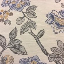 Красивая ткань с крупными цветами Paloma 19. Европа, Испания, портьерная. На светлом фоне цветочный орнамент, микс