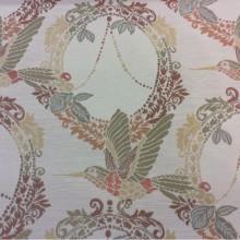 Купить ткань с птицами в Москве Paloma 13. Испания, Европа, портьерная. На светлом фоне изображение птиц, микс