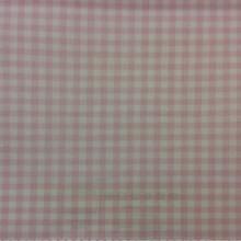 Портьерная ткань из хлопка Cindy 14. Розовые с белым мелкие квадратики. Европа, Испания, тонкая портьерная ткань.