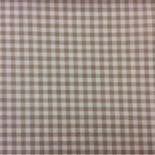 Портьерная ткань из 100% хлопка Cindy 23. Коричневые с белым мелкие квадратики. Испания, Европа, тонкая портьерная ткань для занавесок, ламбрекенов.