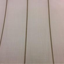 Тюлевая ткань с добавлением хлопка, на белой сетке коричневые вертикальные полосыCindy 25. Испания, Европа, тонкий тюль для штор.