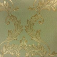 Ткань в стиле барокко в интернет-магазине 2375/51. Европа, Франция, портьерная. Оливковый фон, золотистый орнамент
