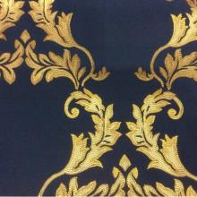 Купить ткань в интернете 2375/40. Франция, Европа, портьерная. Тёмно-синий фон, золотистый орнамент