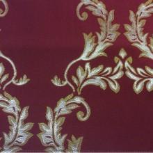 Ткань для штор в стиле барокко 2375/30. Франция, Европа, портьерная. Красный фон, золотистый орнамент