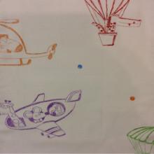 Хлопковая ткань с цветными мультяшными фигурками Pets Coord. Airjet. Col 03. Европа, Испания, портьерная ткань.