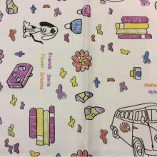 Детская ткань с игрушками Kids B Unico 09. Европа, Испания, портьерная ткань для штор.На белом фоне мелкие цветные игрушки