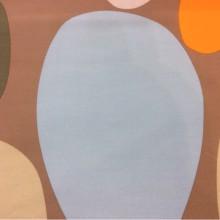 Испанская ткань с хлопковой нитью и ярким принтом Losco duvet, col 32. Европа, Испания, портьерная. Цветные большие и маленькие овалы