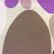 Ткань с хлопковой нитью и ярким принтом Losco duvet, col 21. Испания, Европа, портьерная. Цветные маленькие и большие овалы