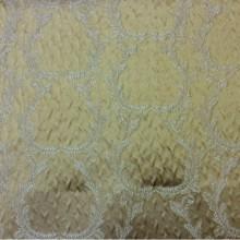 Элитная итальянская ткань в стиле барокко из атласа Gretta 030. Европа, Италия, портьерная. Горчичный фон, золотистый орнамент
